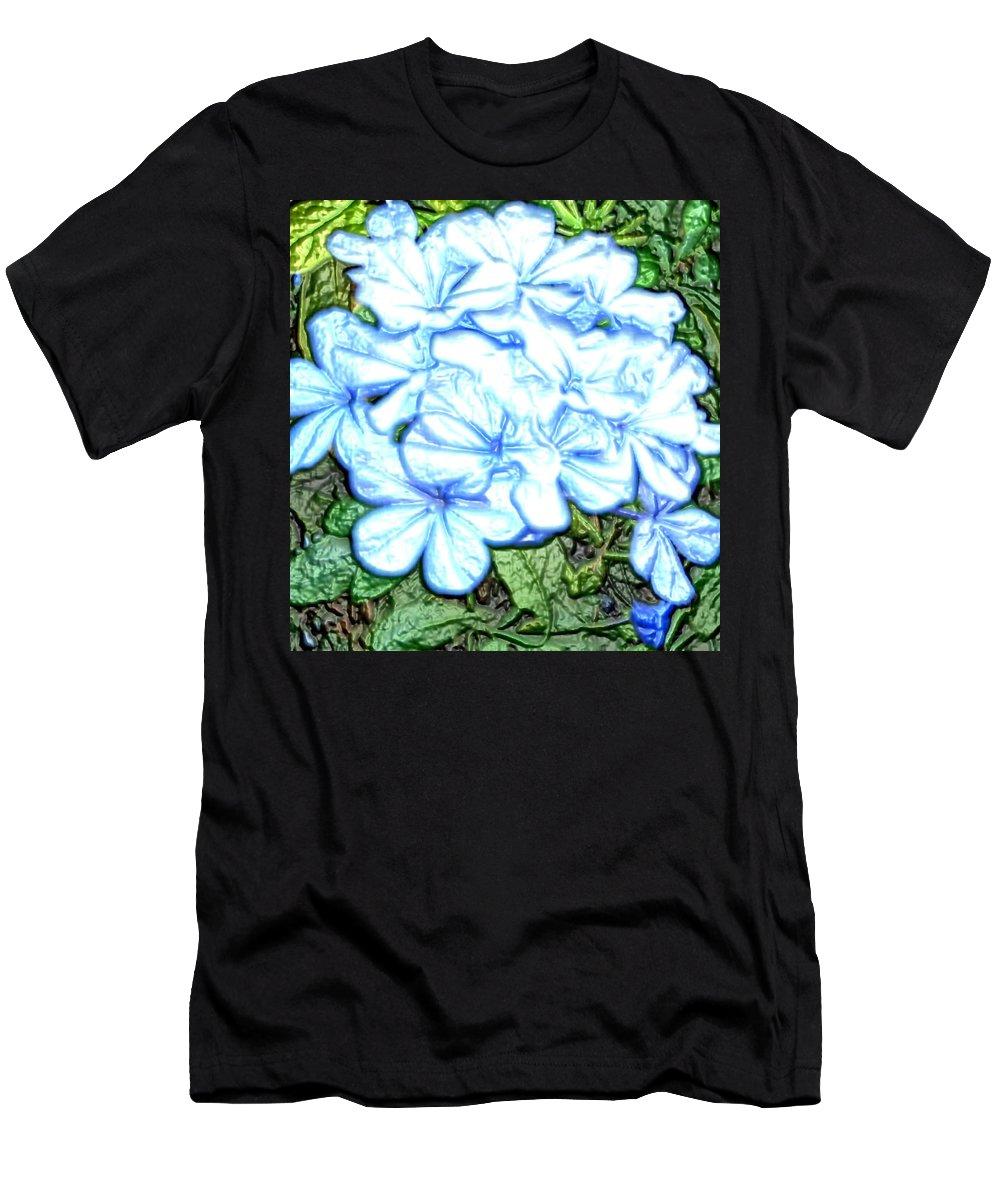 Hydrangea Men's T-Shirt (Athletic Fit) featuring the digital art Blue Hydrangea by April Patterson