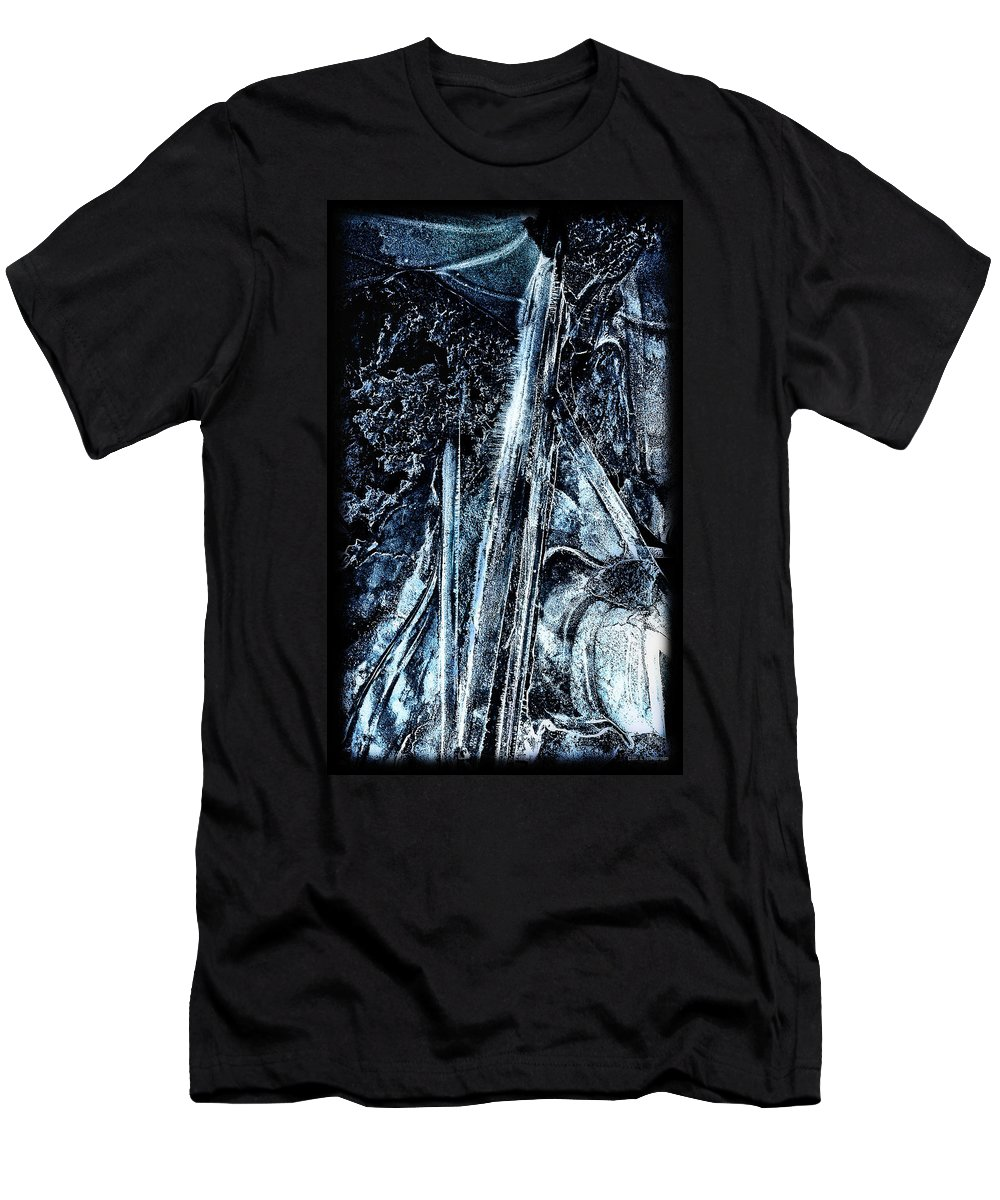 Blue T-Shirt featuring the photograph Blue Ice by Lucy VanSwearingen