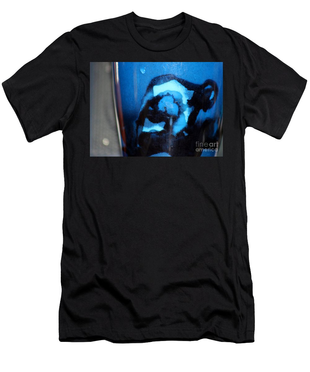 Abstract Men's T-Shirt (Athletic Fit) featuring the photograph Blue Instant by Karen Adams