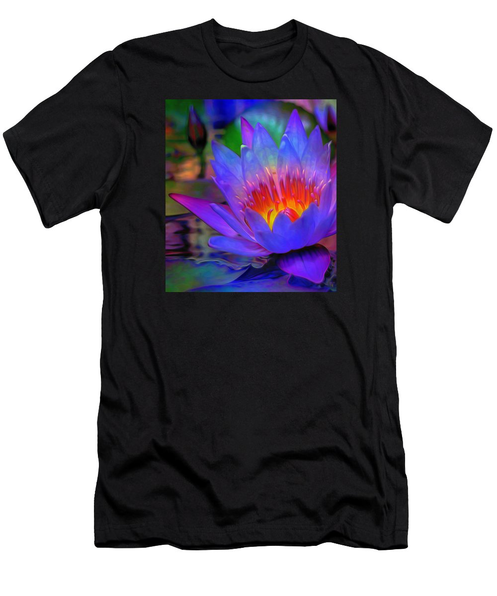Blue Lotus Men's T-Shirt (Athletic Fit) featuring the painting Blue Lotus by Fli Art