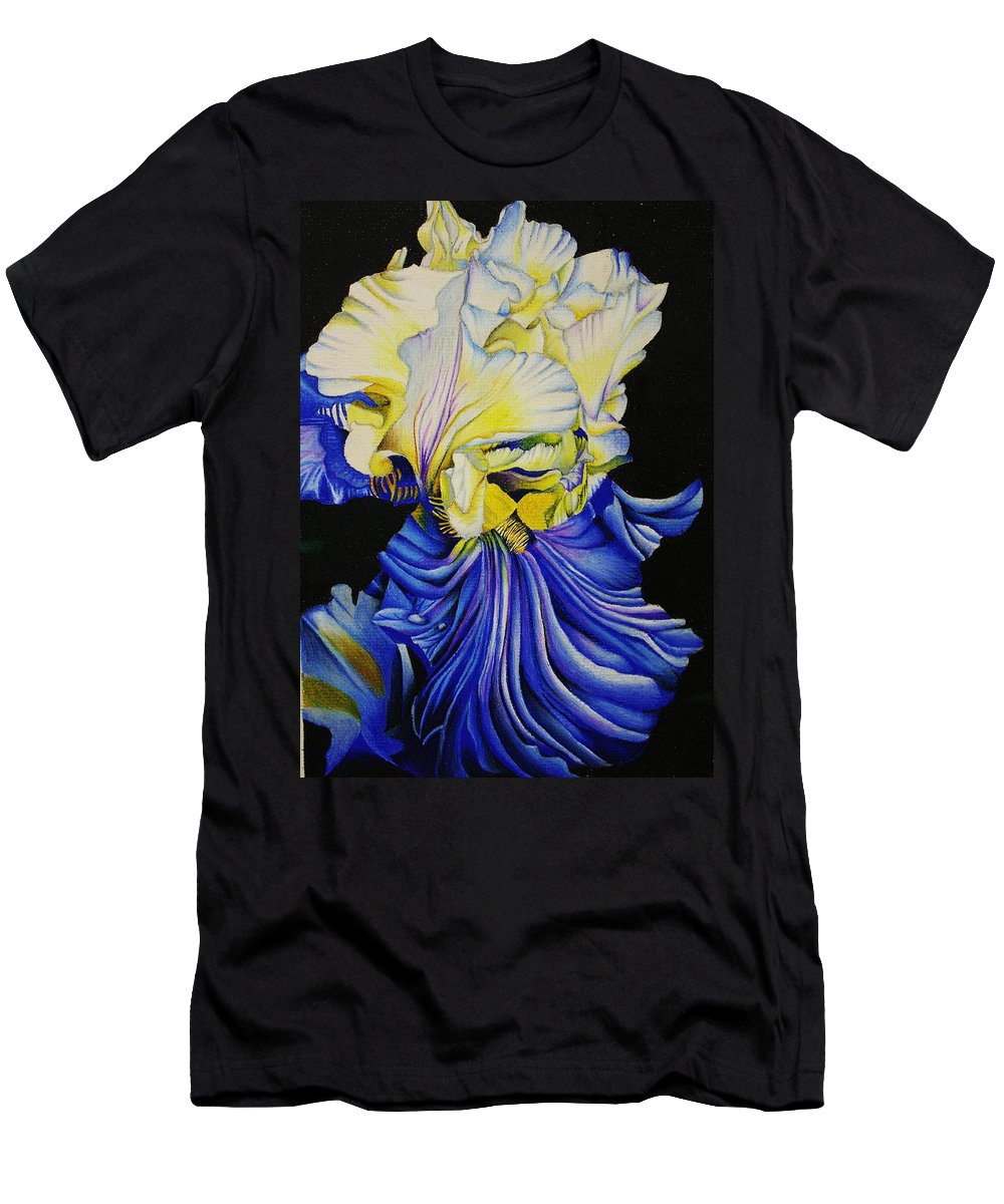 Flora Men's T-Shirt (Athletic Fit) featuring the drawing Blue Magic by Bruce Bley