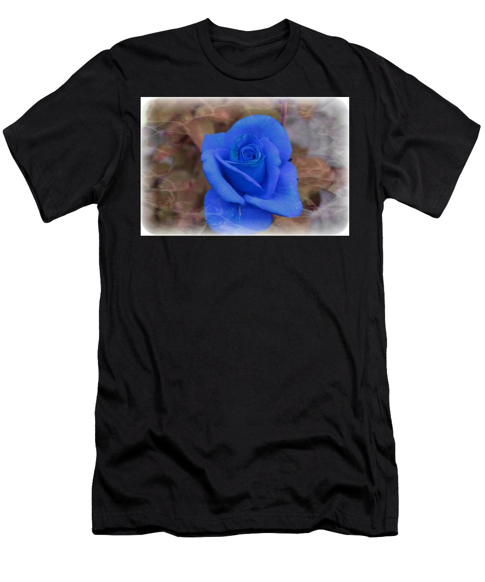 Floral Men's T-Shirt (Athletic Fit) featuring the photograph Blue Rose by Tammy Garner