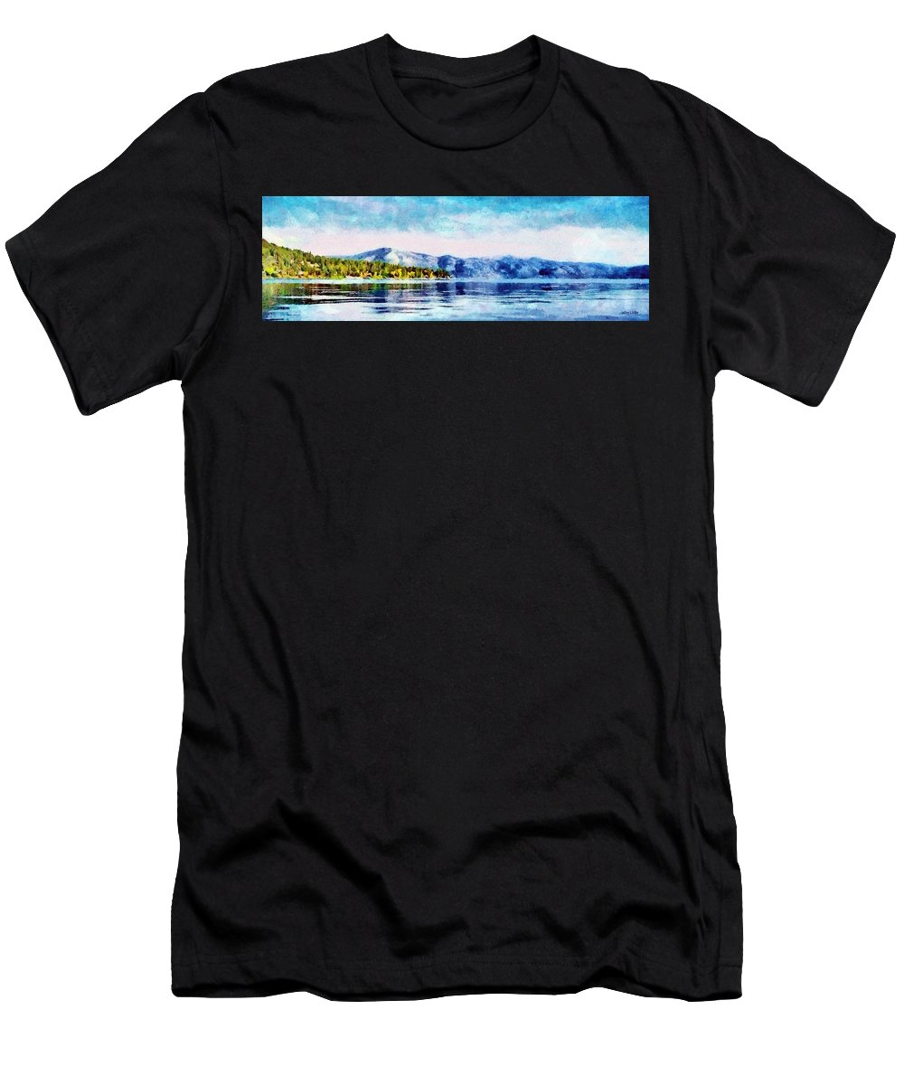 California Men's T-Shirt (Athletic Fit) featuring the painting Blue Tahoe by Jeffrey Kolker