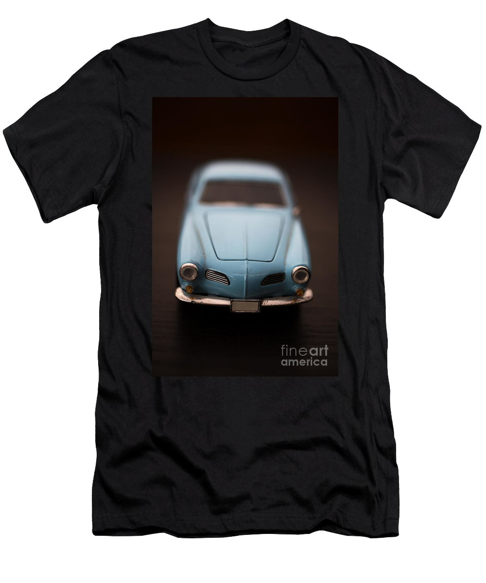 Blue Men's T-Shirt (Athletic Fit) featuring the photograph Blue Toy Car by Edward Fielding
