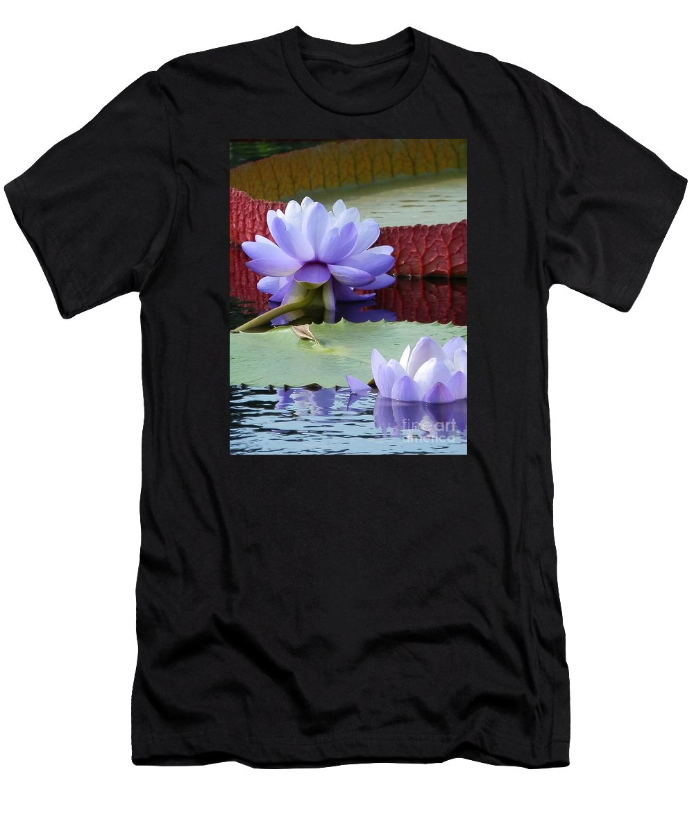 Diane Dimarco Art Men's T-Shirt (Athletic Fit) featuring the photograph Blue Tranquillity by Diane DiMarco