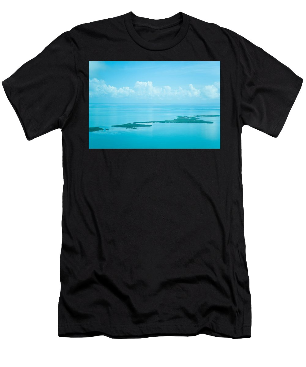Belize Men's T-Shirt (Athletic Fit) featuring the photograph Blue Serenity by Zina Zinchik