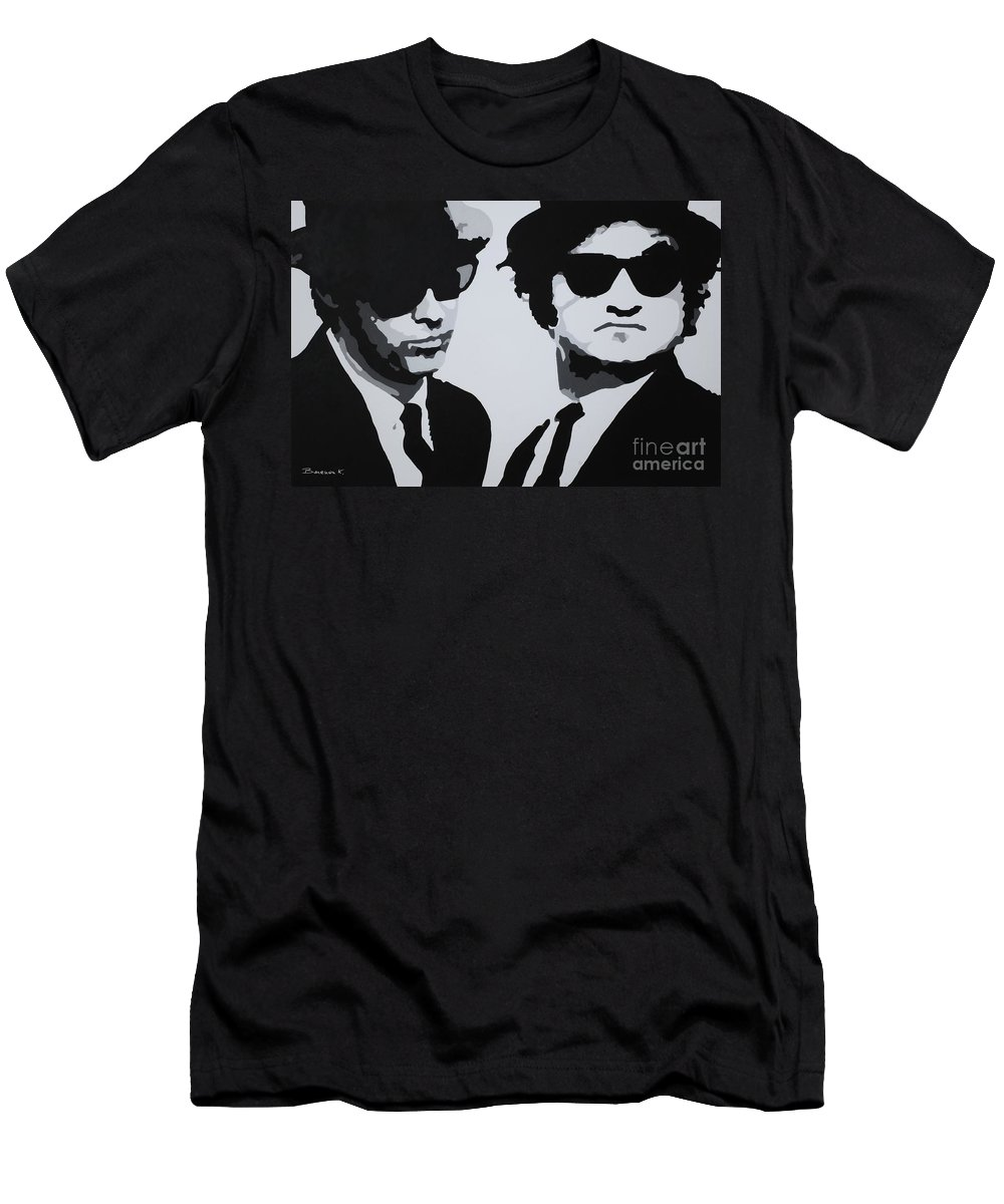 Blues Brothers Men's T-Shirt (Athletic Fit) featuring the painting Blues Brothers by Katharina Filus
