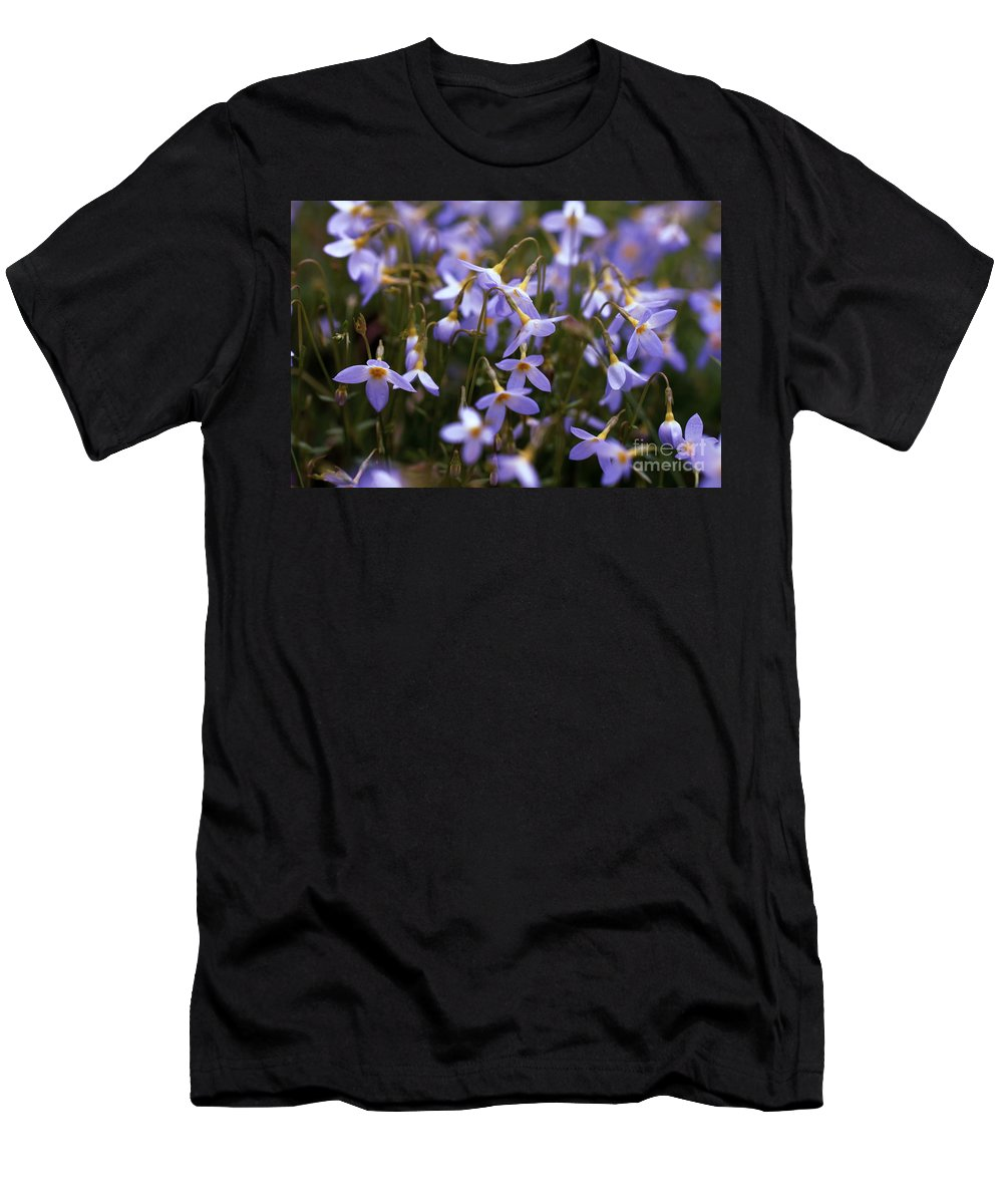 Bluets Men's T-Shirt (Athletic Fit) featuring the photograph Bluets by David Rucker