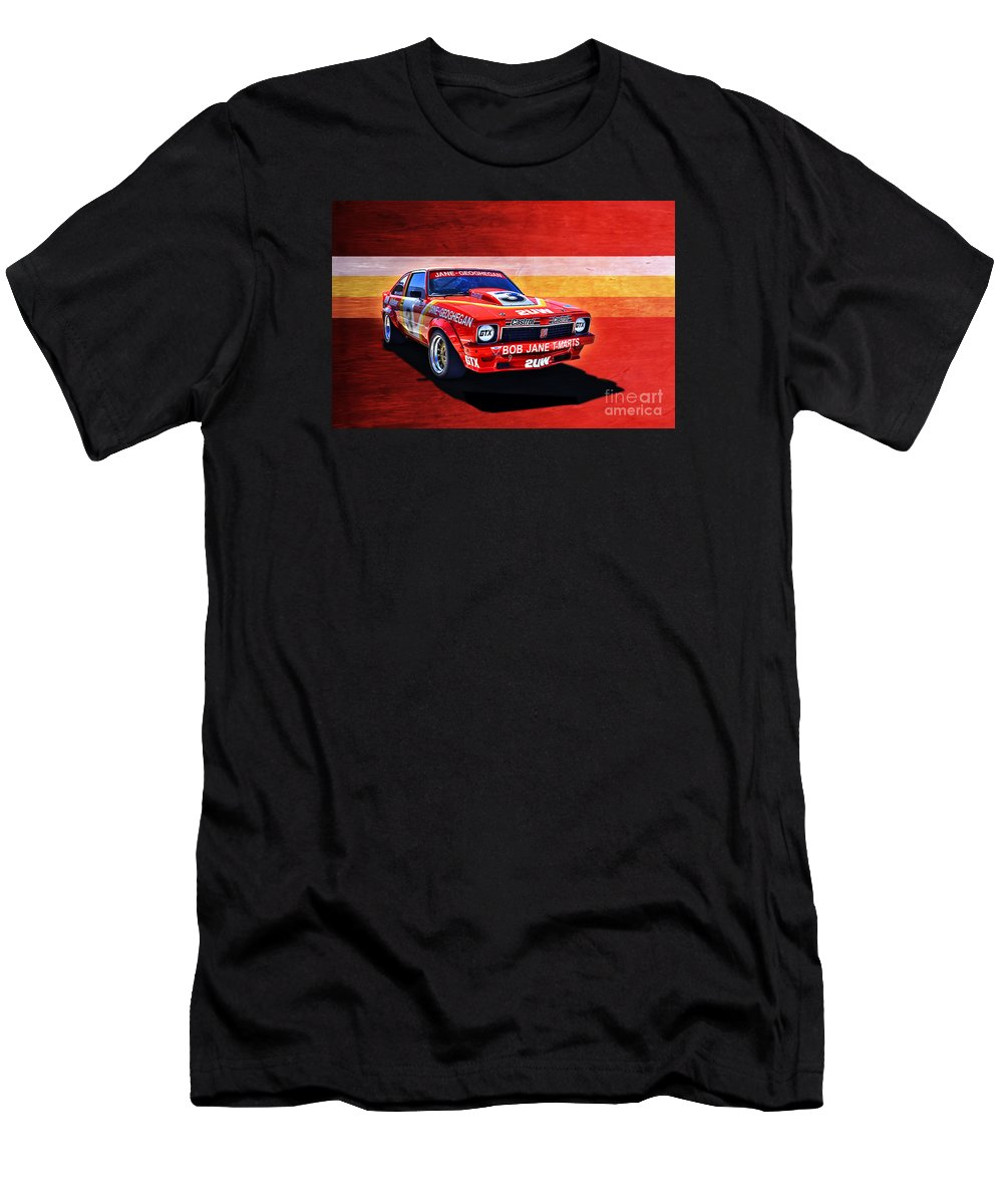 Holden Men's T-Shirt (Athletic Fit) featuring the photograph Bob Jane Torana A9x by Stuart Row