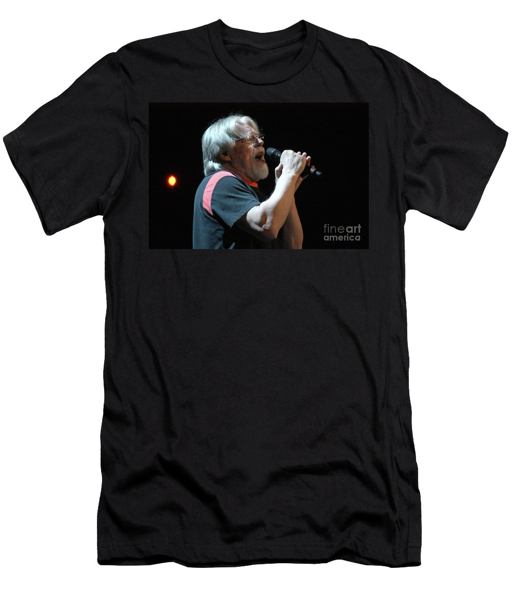 Bob Seger Men's T-Shirt (Athletic Fit) featuring the photograph Bob Seger 3692-1 by Gary Gingrich Galleries