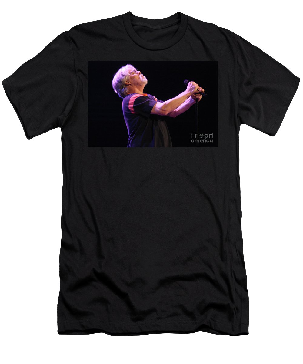Bob Seger Men's T-Shirt (Athletic Fit) featuring the photograph Bob Seger 3840 by Gary Gingrich Galleries