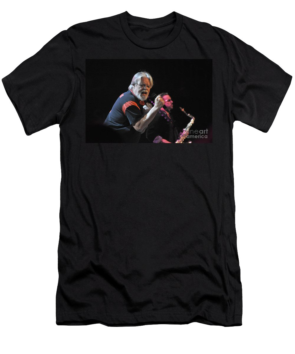 Bob Seger Men's T-Shirt (Athletic Fit) featuring the photograph Bob Seger 6136 by Gary Gingrich Galleries