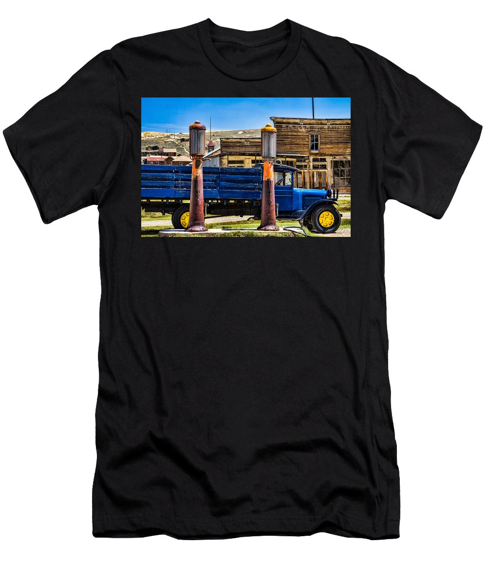 Steven Bateson Men's T-Shirt (Athletic Fit) featuring the photograph Bodie Gas by Steven Bateson