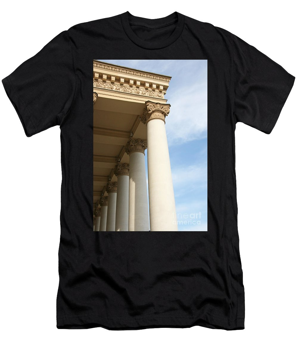 Column Men's T-Shirt (Athletic Fit) featuring the photograph Bolshoi Theatre In Moscow by Lali Kacharava