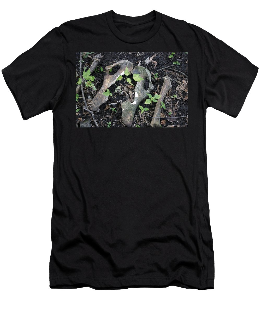 Michigan Men's T-Shirt (Athletic Fit) featuring the photograph Bones On The Forest Floor by Thomas Woolworth