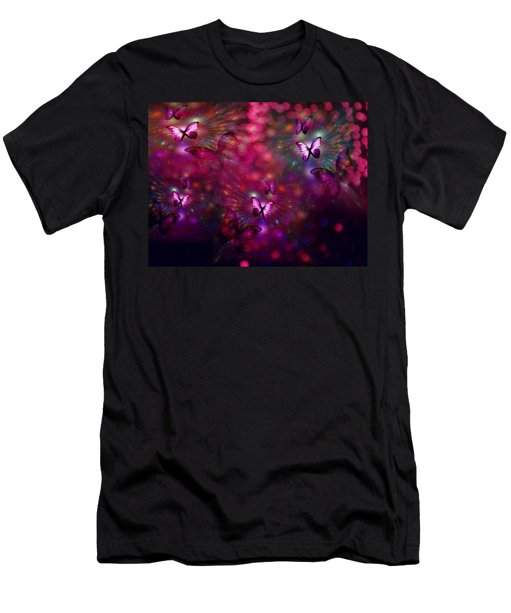 Butterflies Men's T-Shirt (Athletic Fit) featuring the digital art Born Again by Jewell McChesney