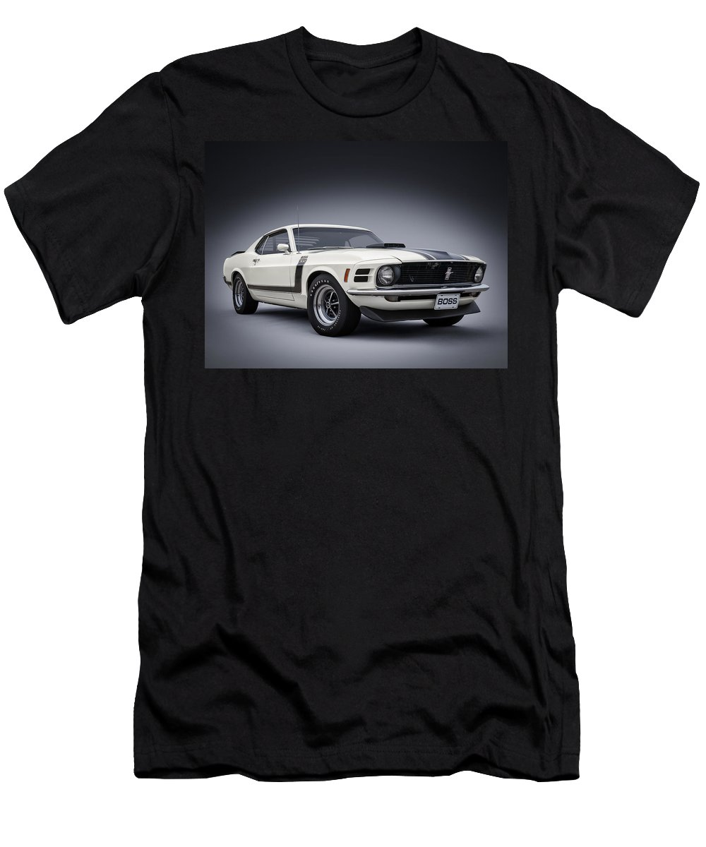 Mustang T-Shirt featuring the digital art Boss by Douglas Pittman