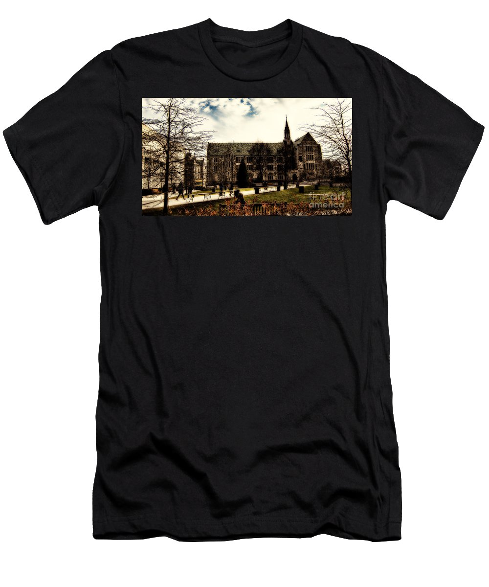 C Men's T-Shirt (Athletic Fit) featuring the photograph Boston College by Douglas Barnard