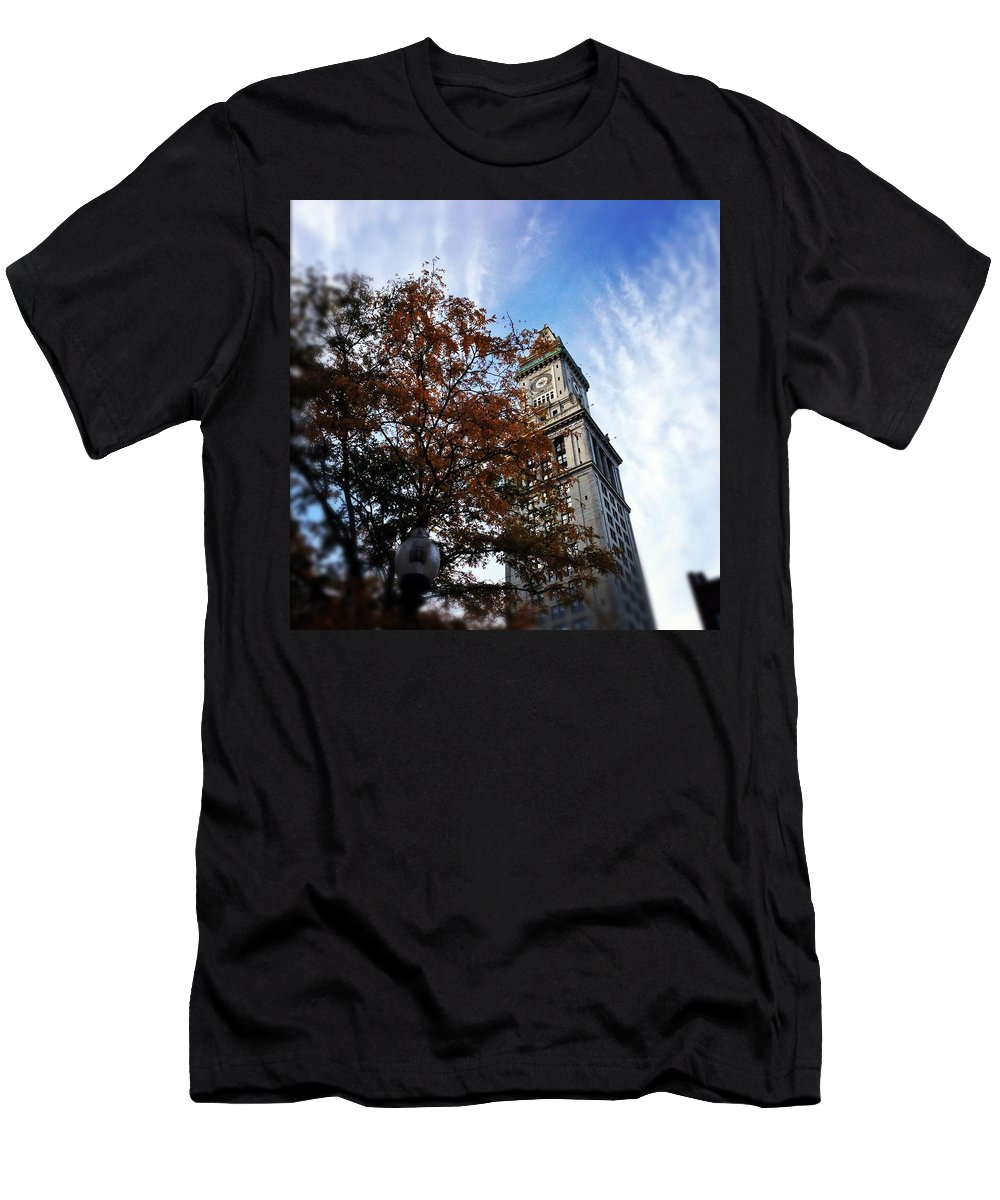 Men's T-Shirt (Athletic Fit) featuring the photograph Boston Custom Autumn by Mark Valentine