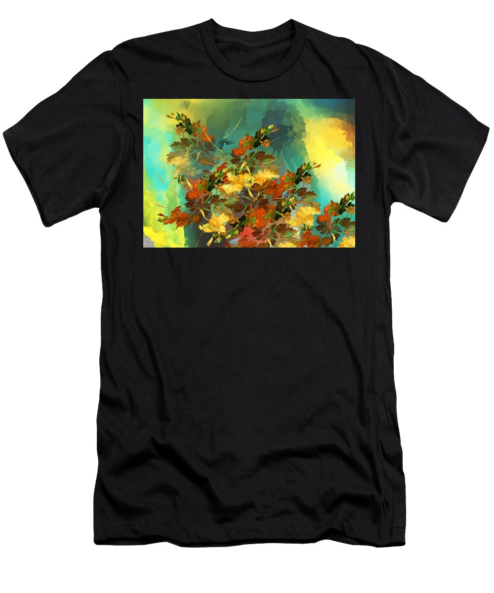 Fine Art Men's T-Shirt (Athletic Fit) featuring the digital art Botanical Fantasy 090914 by David Lane