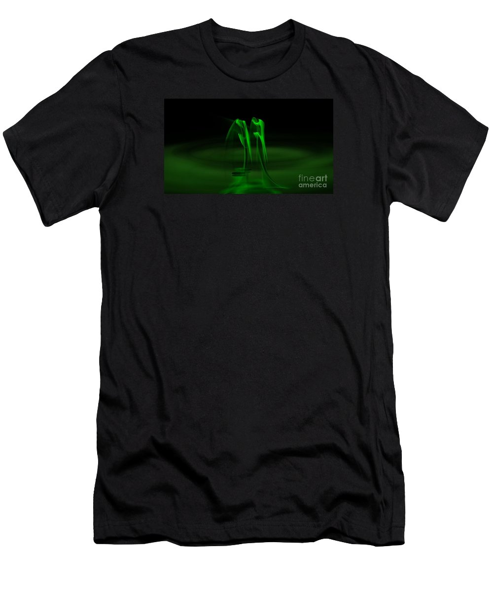 Peter R Nicholls Abstract Fine Artist Canada Men's T-Shirt (Athletic Fit) featuring the digital art Botanical Life Force by Peter R Nicholls