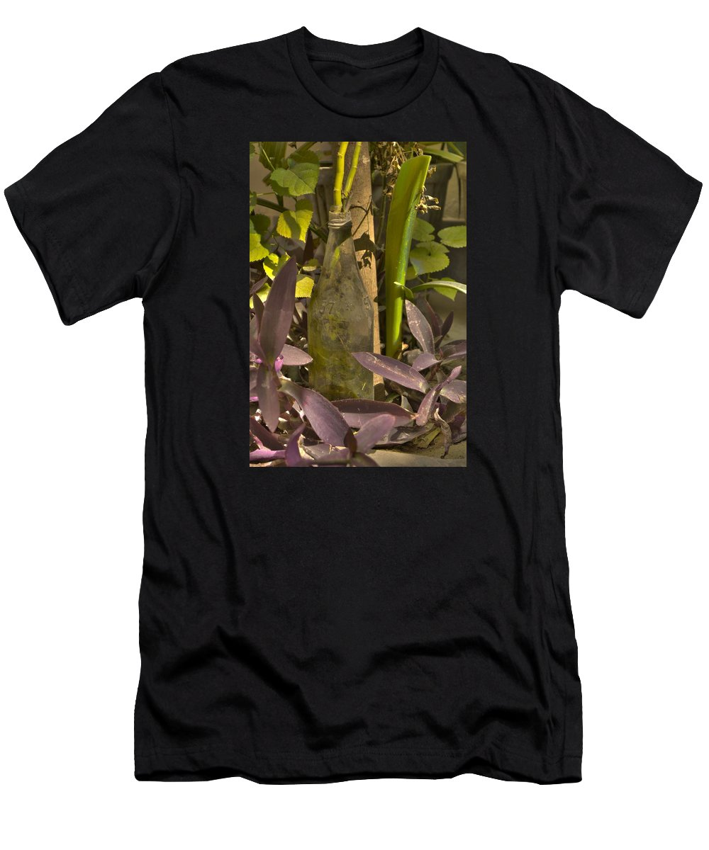Wallpaper Buy Art Print Phone Case T-shirt Beautiful Duvet Case Pillow Tote Bags Shower Curtain Greeting Cards Mobile Phone Apple Android Nature Bottle Plants Old Hdr Photograph Salman Ravish Khan Men's T-Shirt (Athletic Fit) featuring the photograph Bottle by Salman Ravish