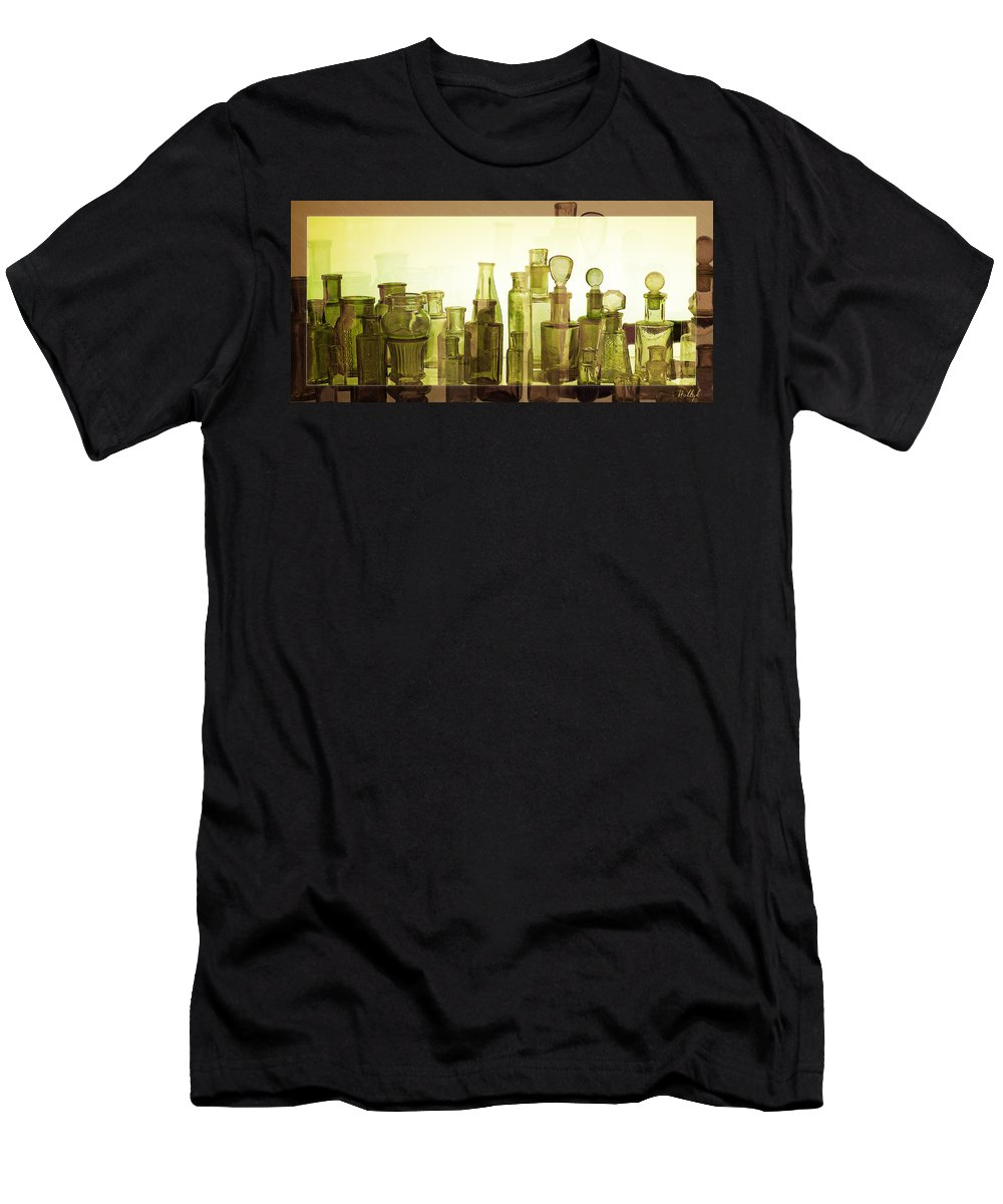 Bottles Men's T-Shirt (Athletic Fit) featuring the photograph Bottled Light by Holly Kempe