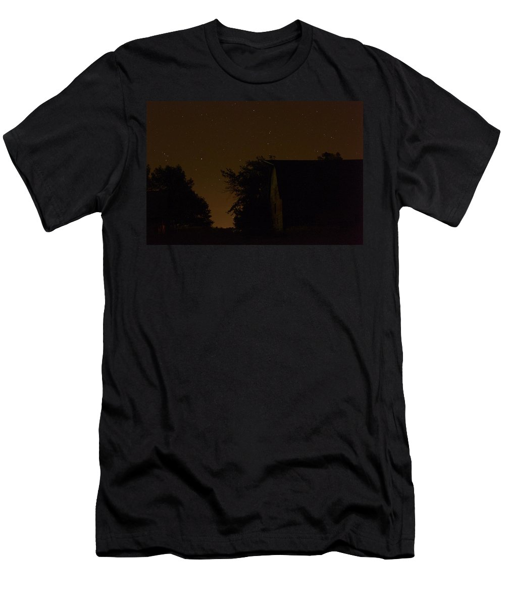 Barn Men's T-Shirt (Athletic Fit) featuring the photograph Boylan Barn Twilight 2 by Bonfire Photography