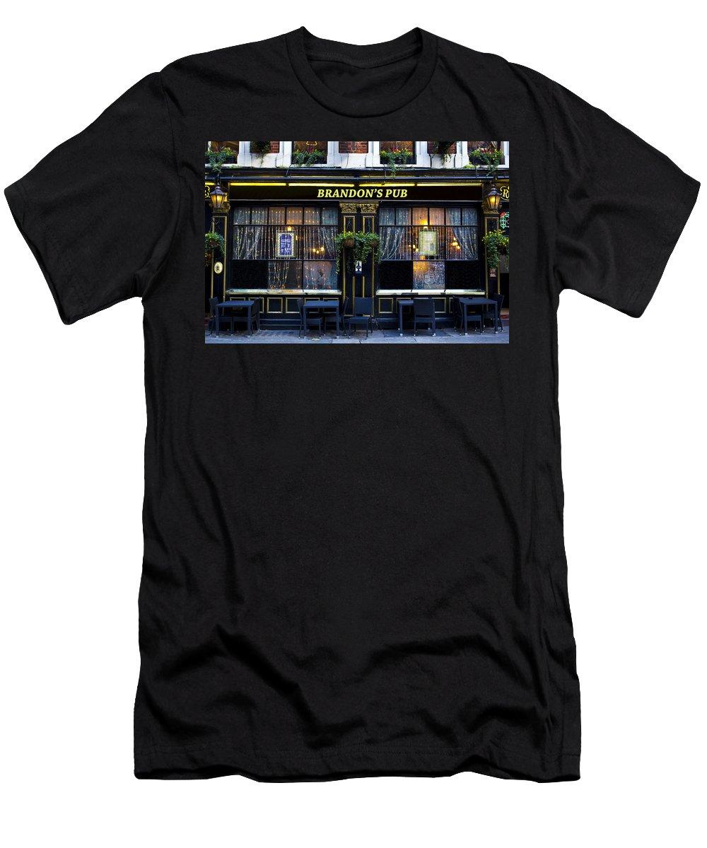 Brandon Men's T-Shirt (Athletic Fit) featuring the photograph Brandon's Pub by David Pyatt