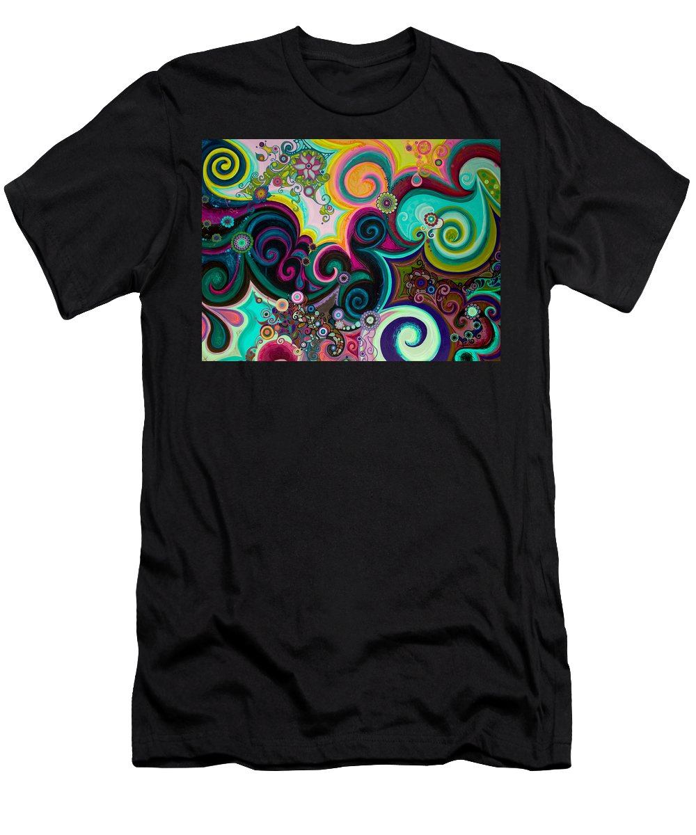 Breath Men's T-Shirt (Athletic Fit) featuring the painting Breath Of Life by Beth Fowler