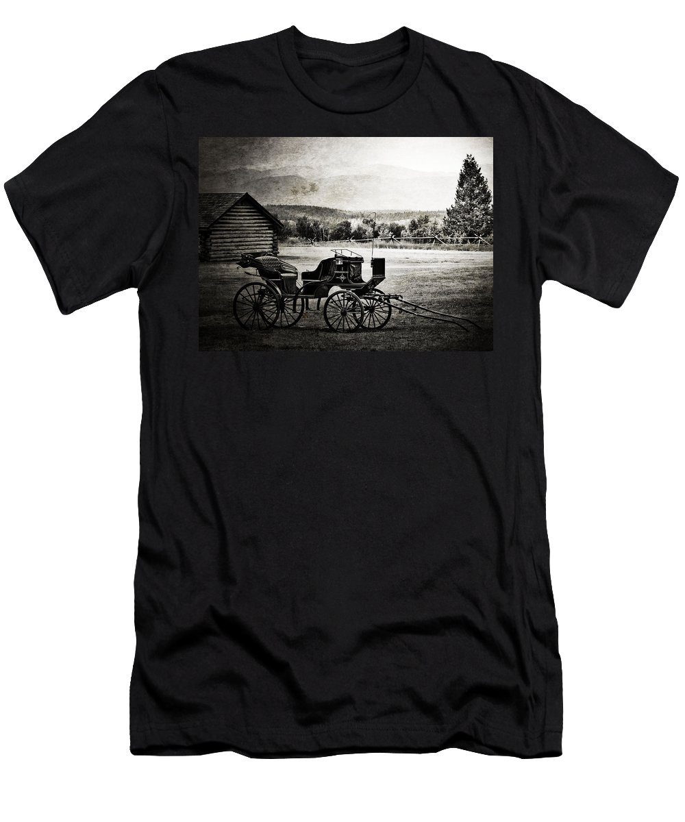 Old Days Men's T-Shirt (Athletic Fit) featuring the photograph Breath Of Old by The Artist Project
