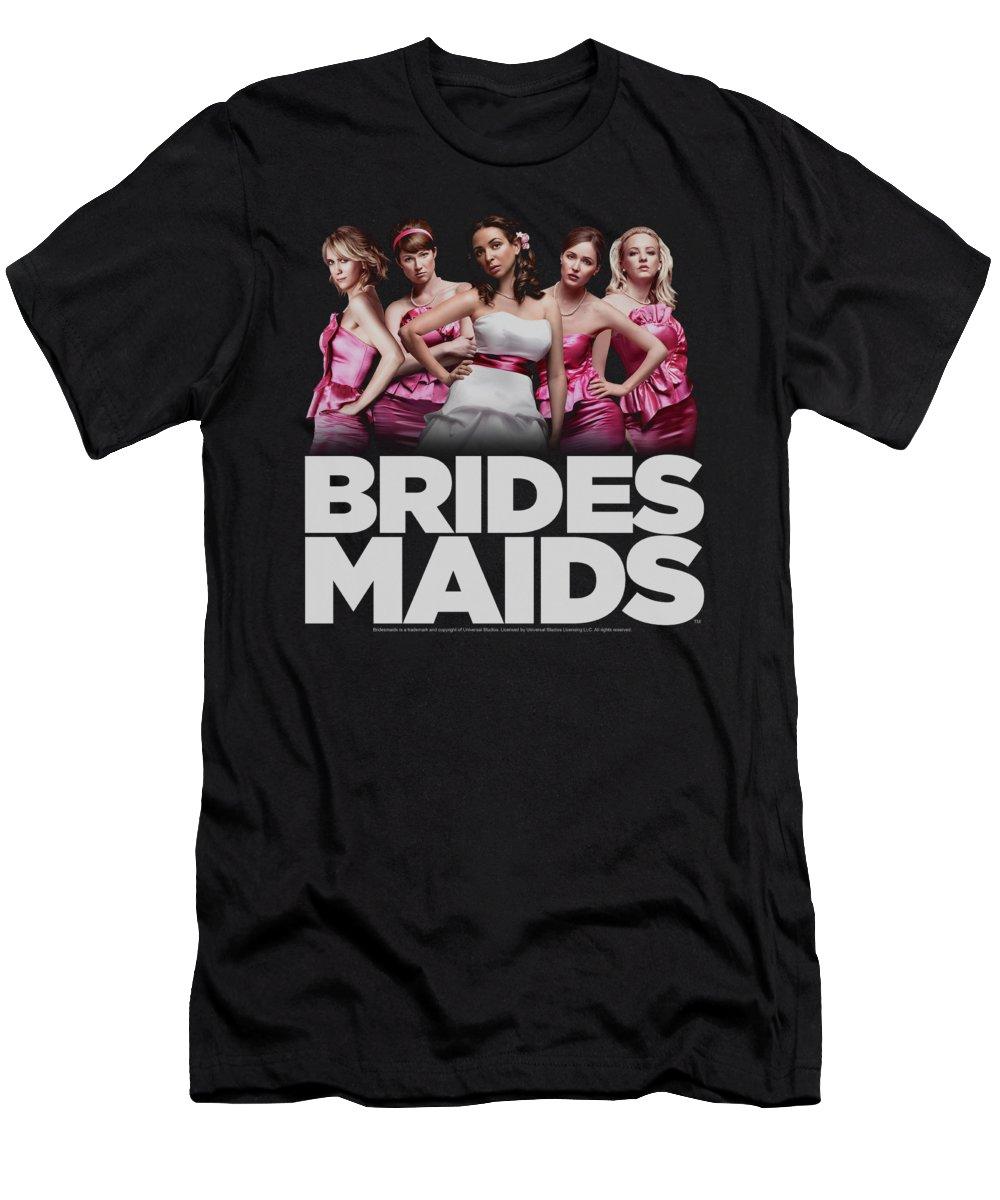 Bridesmaids T-Shirt featuring the digital art Bridesmaids - Maids by Brand A