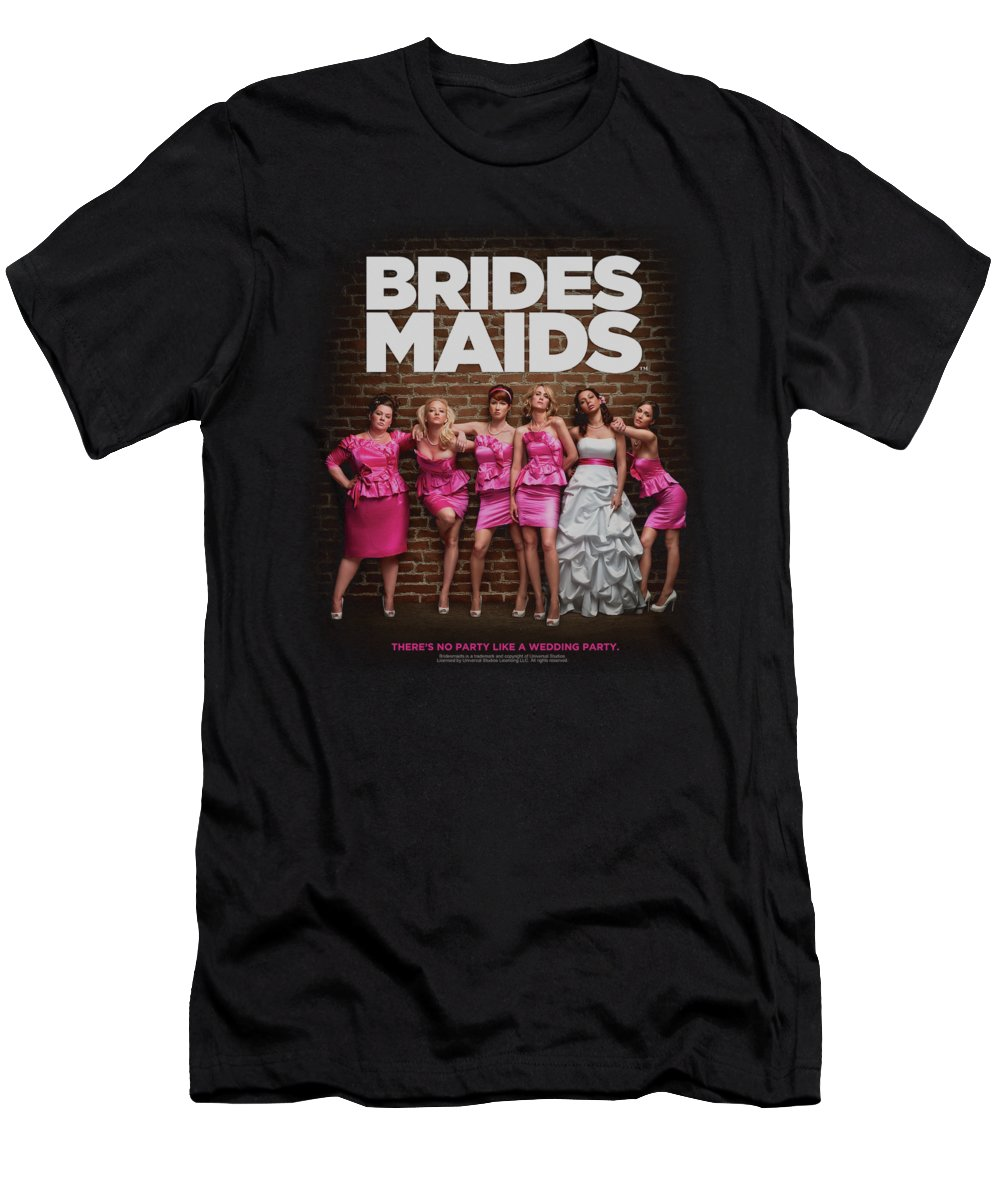 Bridesmaids T-Shirt featuring the digital art Bridesmaids - Poster by Brand A