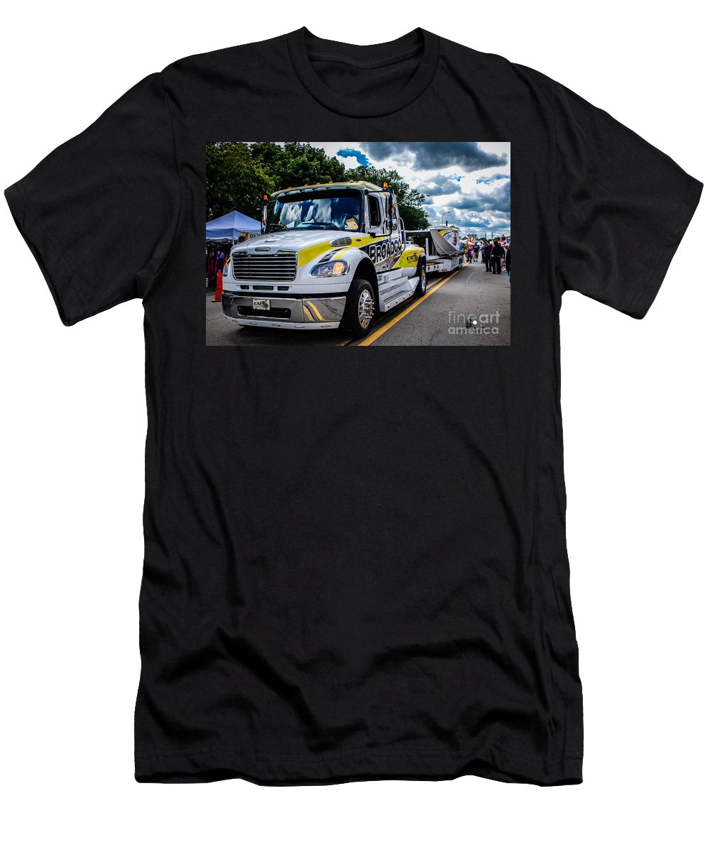 Broadco Men's T-Shirt (Athletic Fit) featuring the photograph Broadco Semi by Grace Grogan