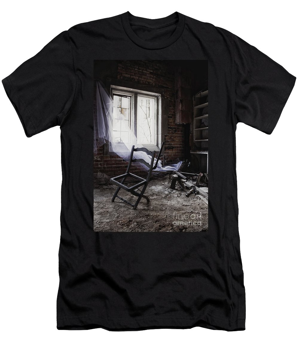 Chair Men's T-Shirt (Athletic Fit) featuring the photograph Broken Past by Margie Hurwich