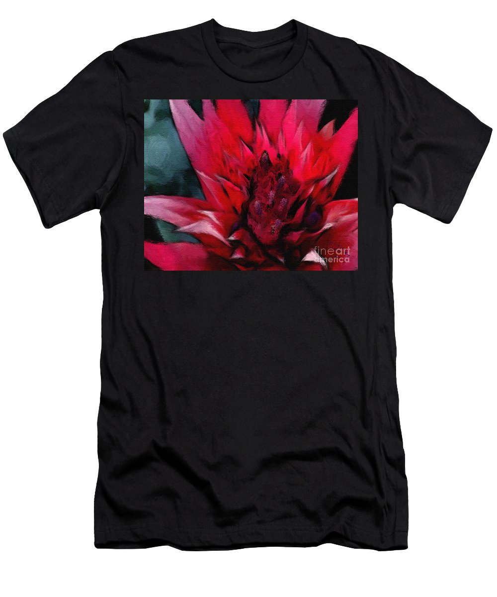 Floral Men's T-Shirt (Athletic Fit) featuring the painting Bromeliad Splendor by Kat Solinsky