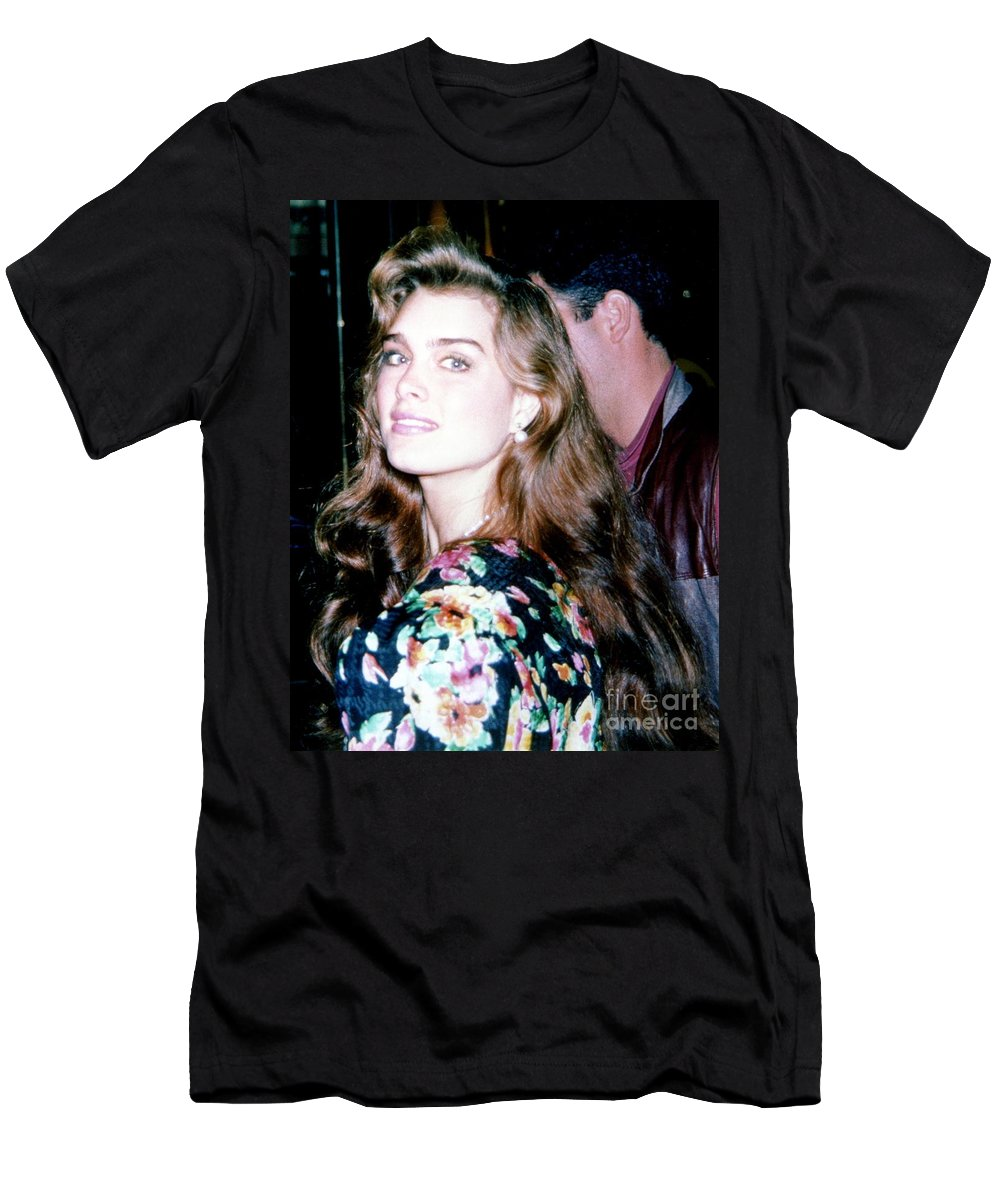 Actress Men's T-Shirt (Athletic Fit) featuring the photograph Brooke Shields 1990 by Ed Weidman