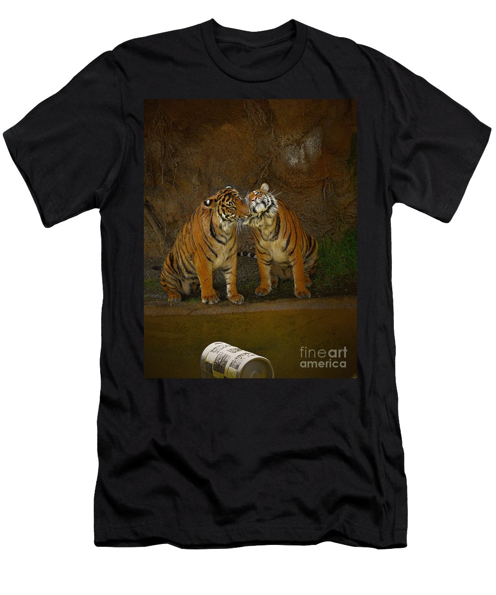 Black Men's T-Shirt (Athletic Fit) featuring the photograph Brotherly Love by Rich Priest