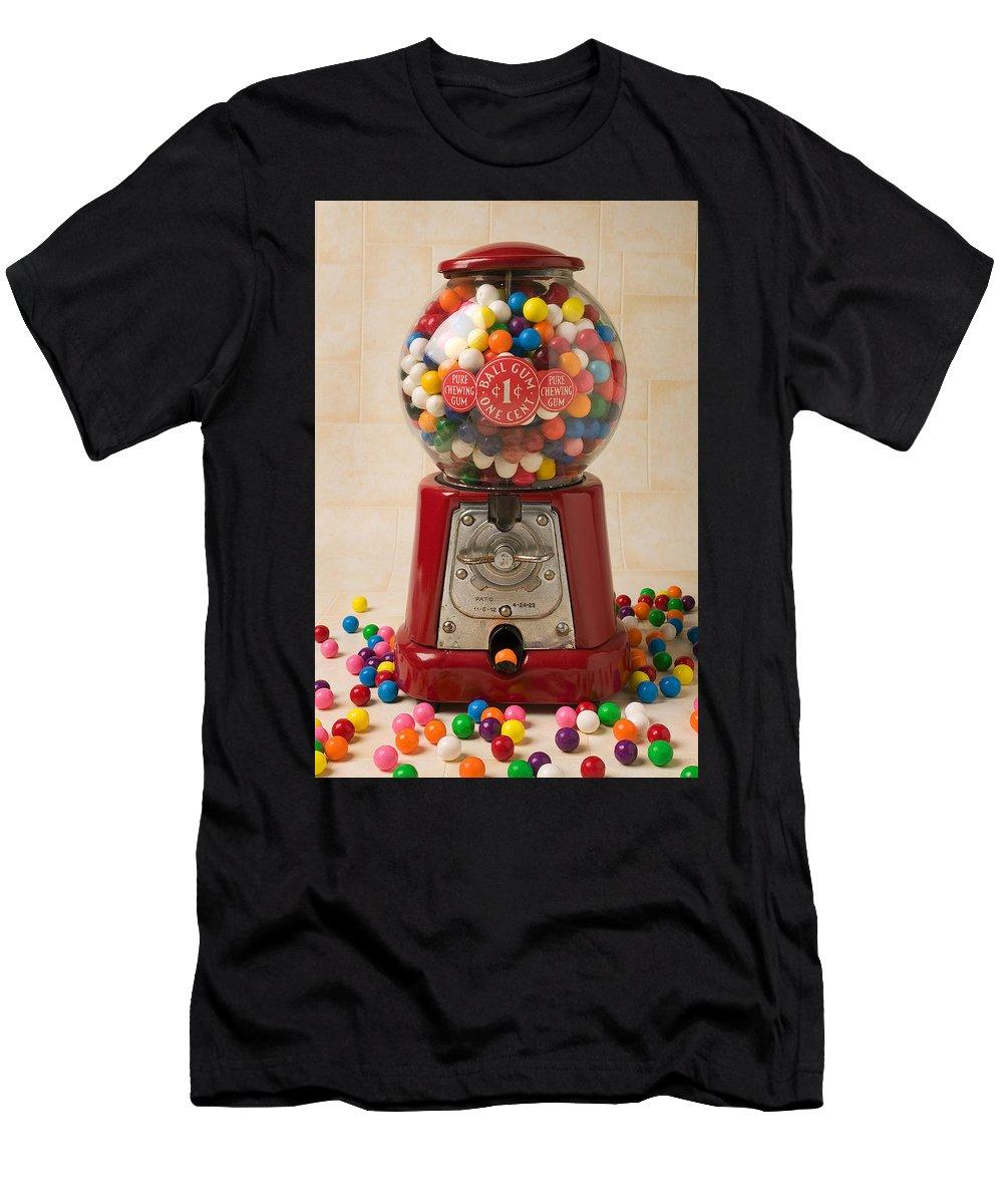 Bubblegum Machine Gum Men's T-Shirt (Athletic Fit) featuring the photograph Bubble Gum Machine by Garry Gay