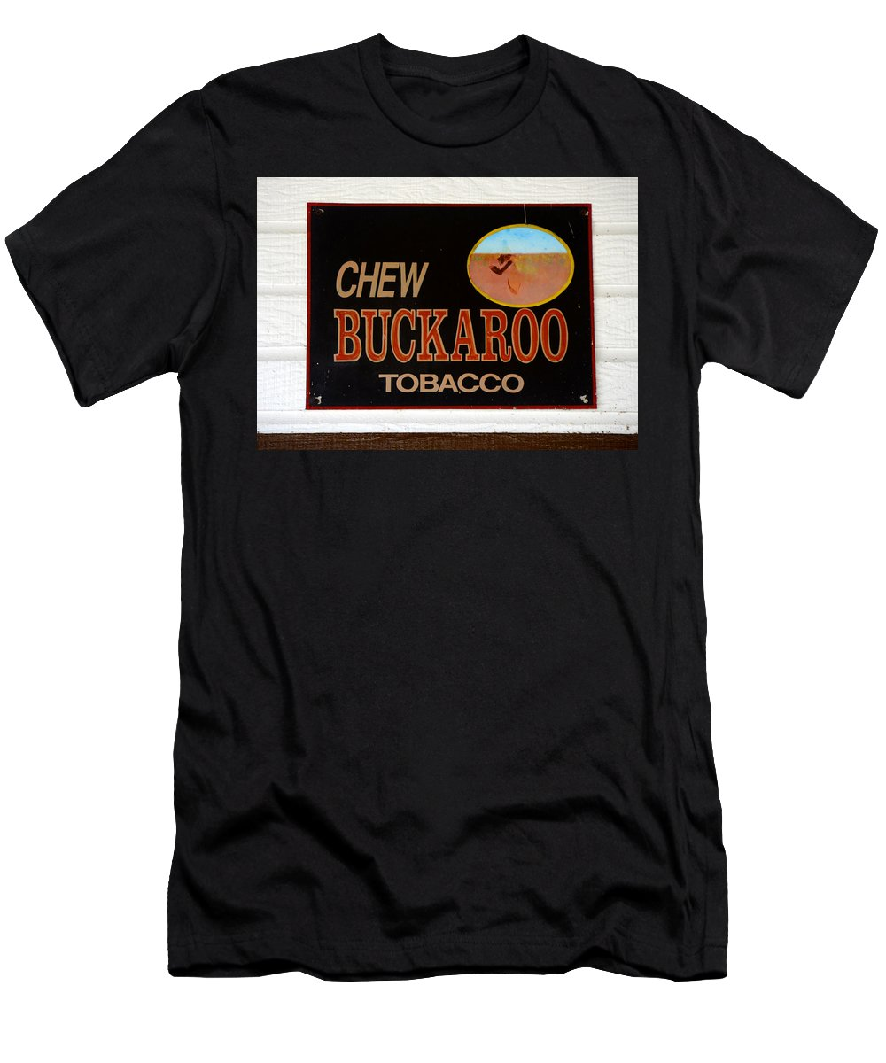 Buckaroo Tobacco Men's T-Shirt (Athletic Fit) featuring the photograph Buckaroo by David Lee Thompson