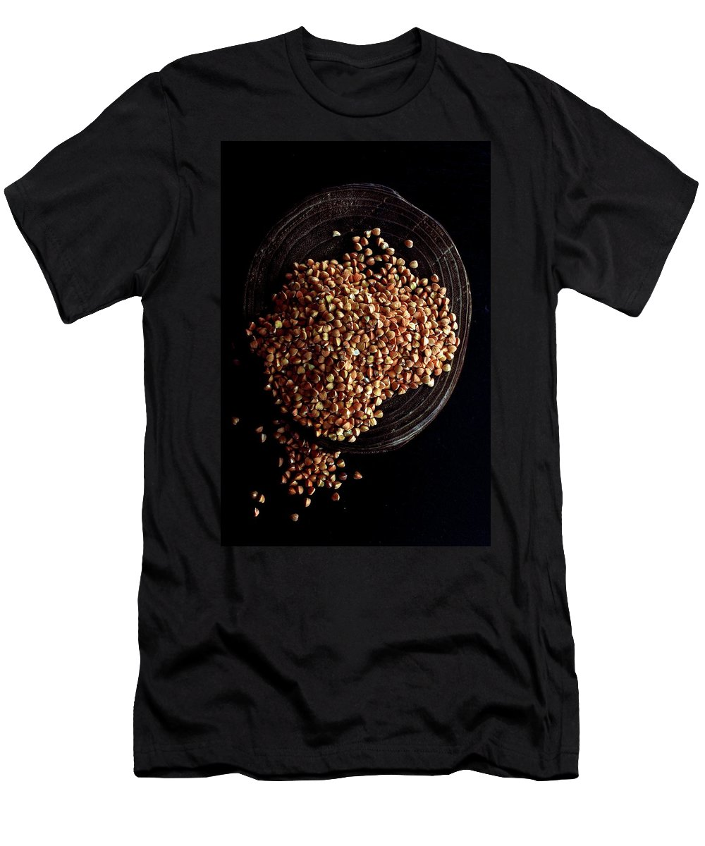 Grains Men's T-Shirt (Athletic Fit) featuring the photograph Buckwheat Grouts by Romulo Yanes