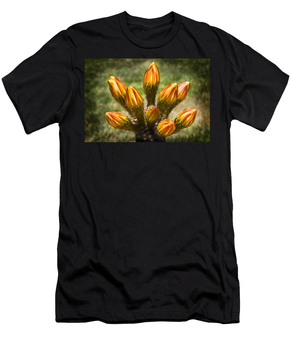 Buds Men's T-Shirt (Athletic Fit) featuring the photograph Bud Bouquet by Kelley King