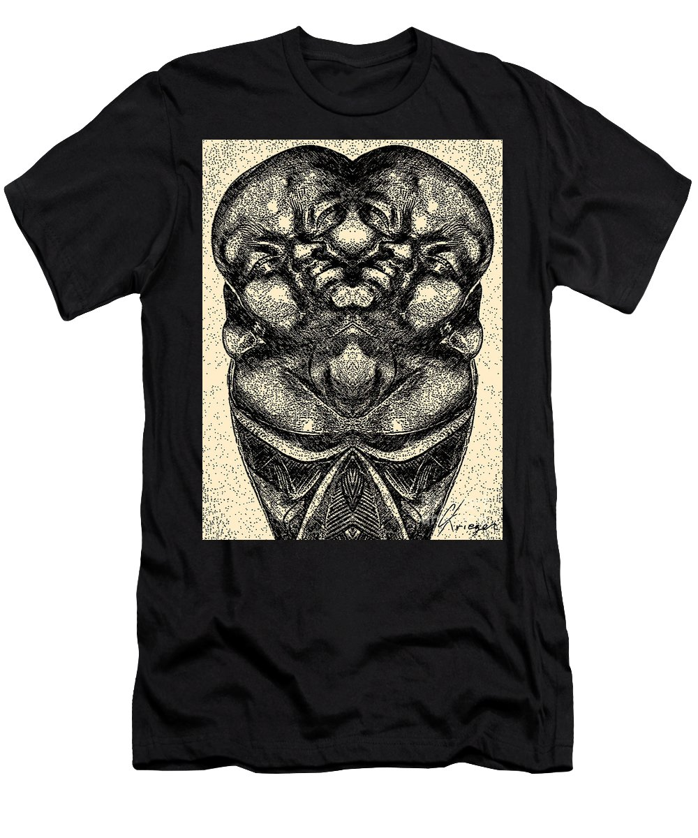 Abstract Men's T-Shirt (Athletic Fit) featuring the photograph Buddha Vase by Christopher Krieger