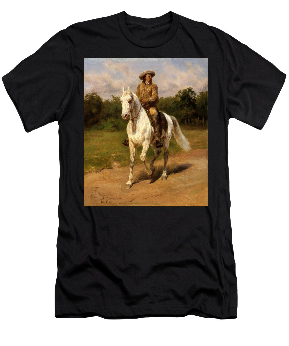 Men's T-Shirt (Athletic Fit) featuring the painting Buffalo Bill by Rosa Bonheur