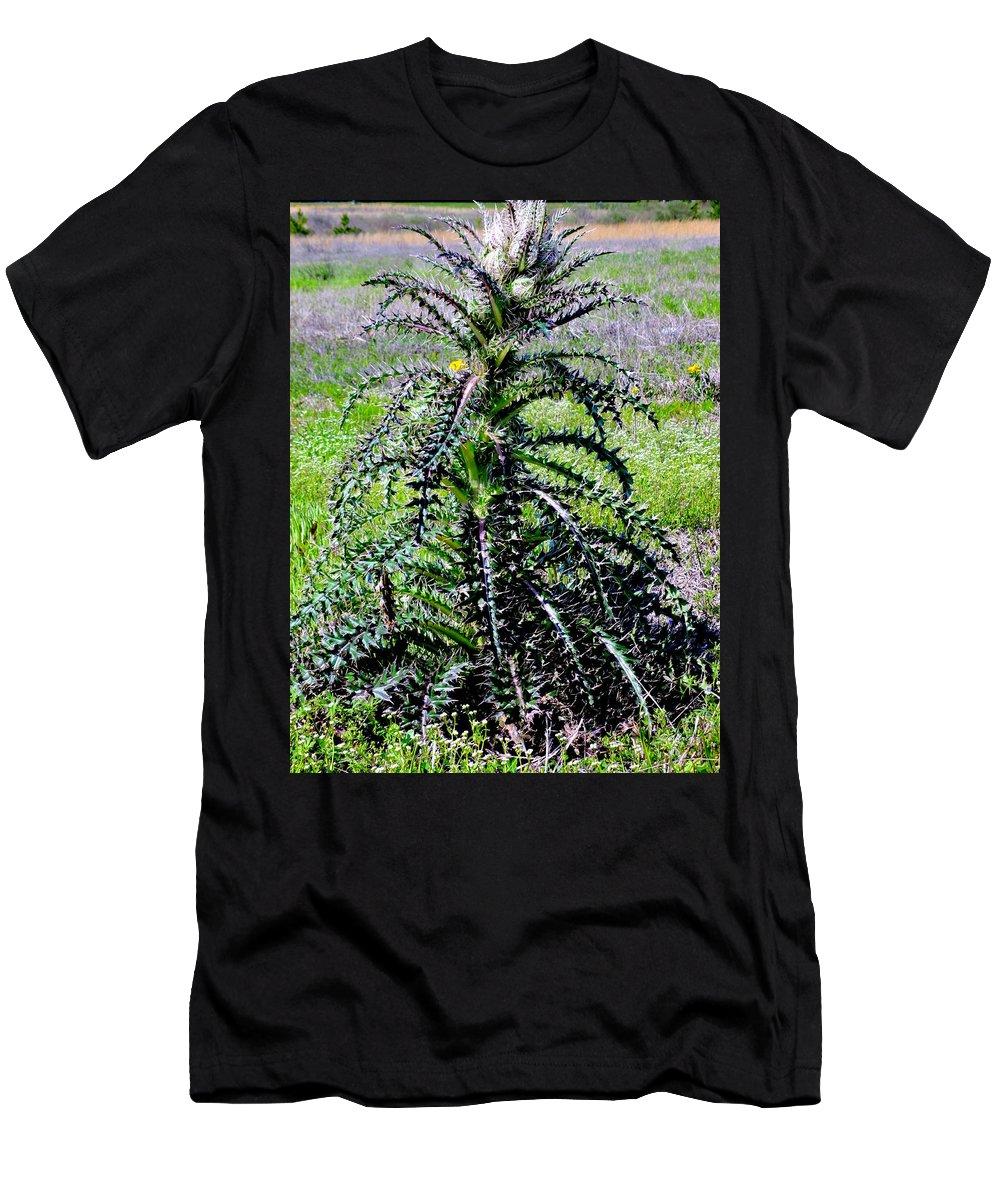 Bull Nettle Men's T-Shirt (Athletic Fit) featuring the photograph Bull Nettle by Deborah Crew-Johnson