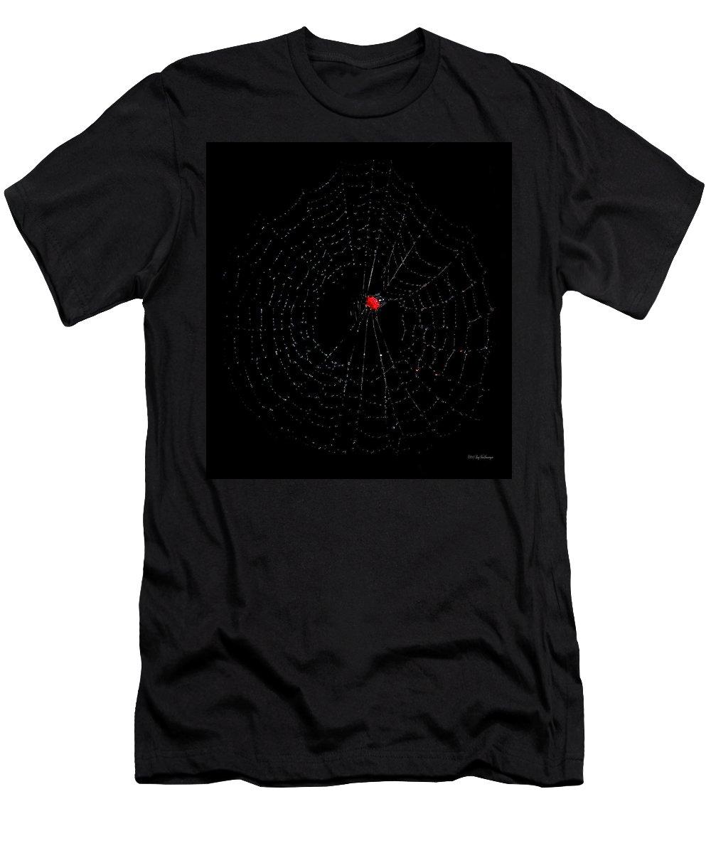 Spider T-Shirt featuring the photograph Bulls-eye by Lucy VanSwearingen