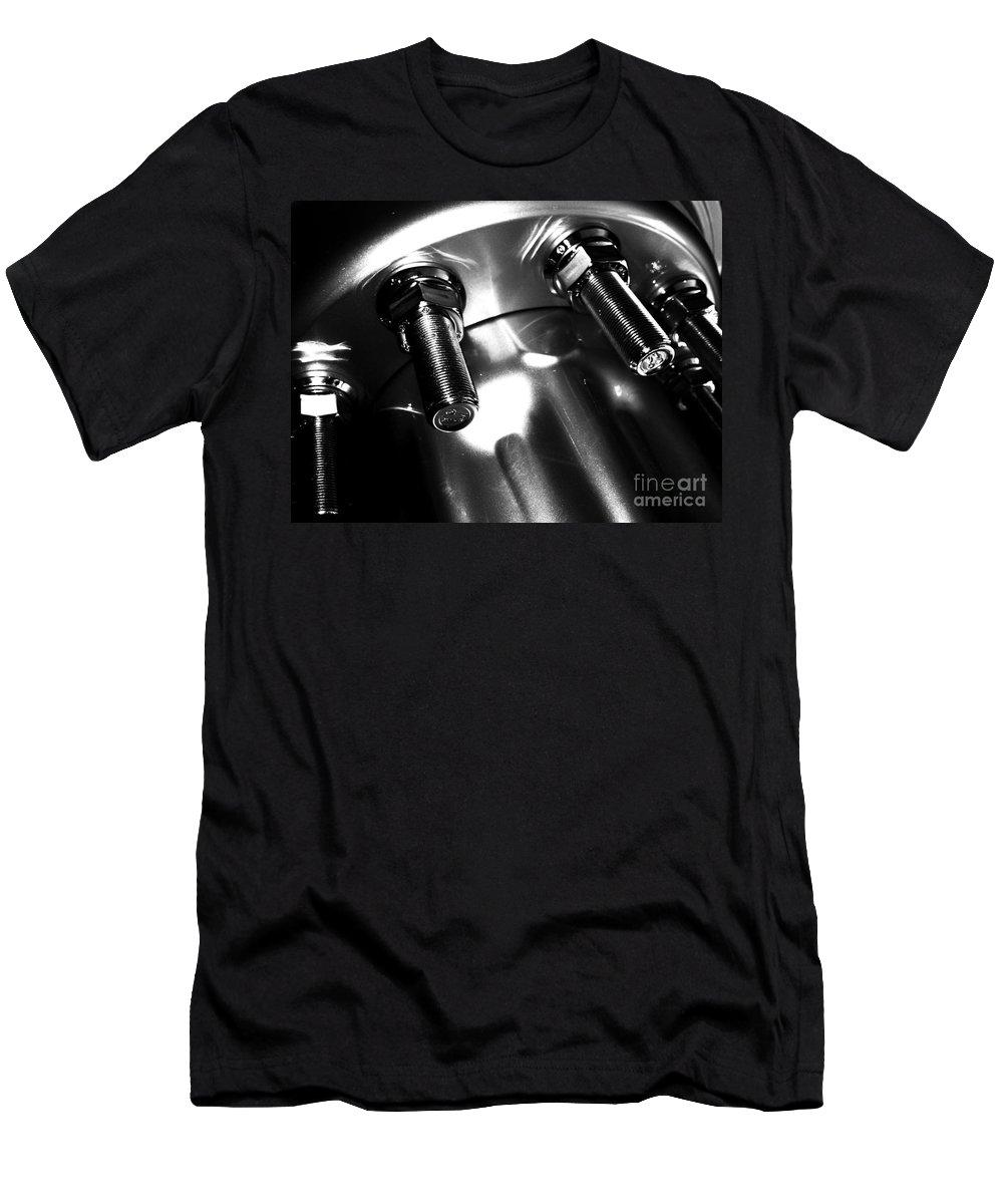 Jamie Lynn Gabrich Men's T-Shirt (Athletic Fit) featuring the photograph Bults Black White by Jamie Lynn