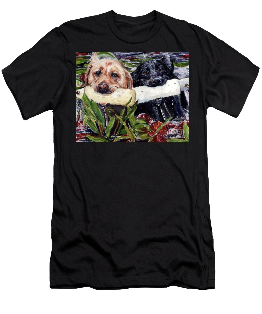 Bumpers Men's T-Shirt (Athletic Fit) featuring the painting Bumper Bumper by Molly Poole