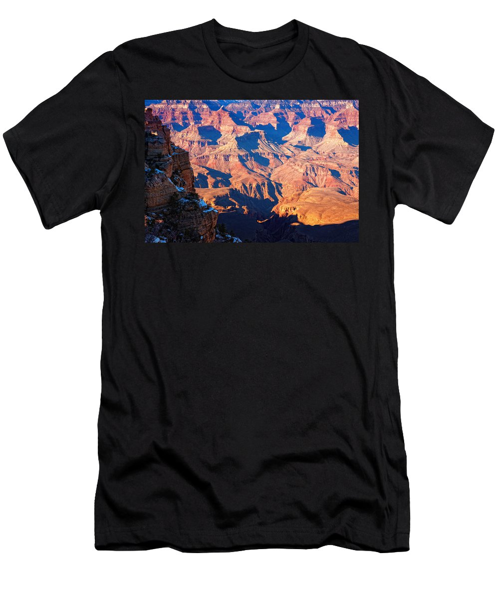 Grand Canyon Men's T-Shirt (Athletic Fit) featuring the photograph Bumpy Ride by Alexey Stiop