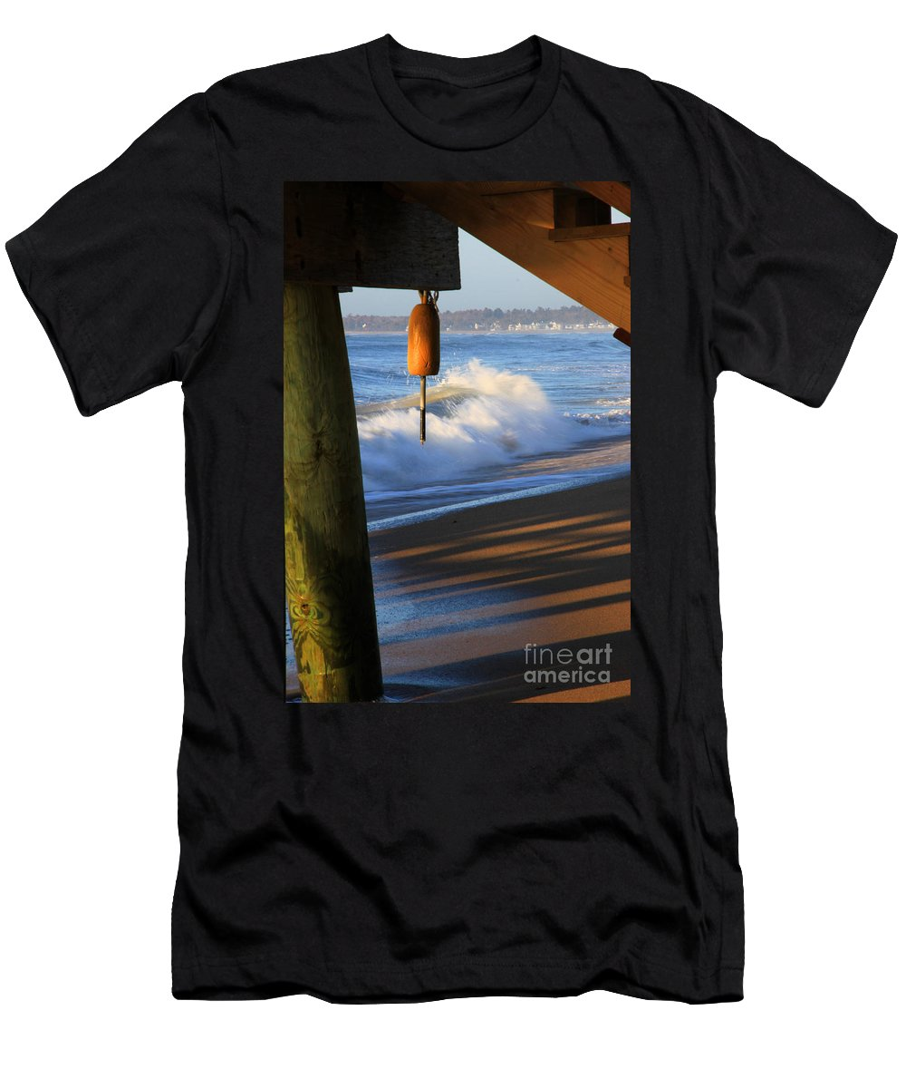 Maine Men's T-Shirt (Athletic Fit) featuring the photograph Buoy 2 by Michael Mooney